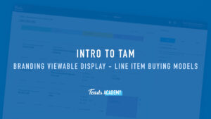 Branding Viewable Display – Line Item Buying Models