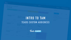 Teads Custom Audiences