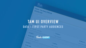 Data - First Party Audiences