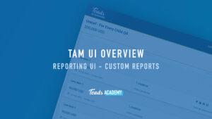 Reporting UI - Custom Reports